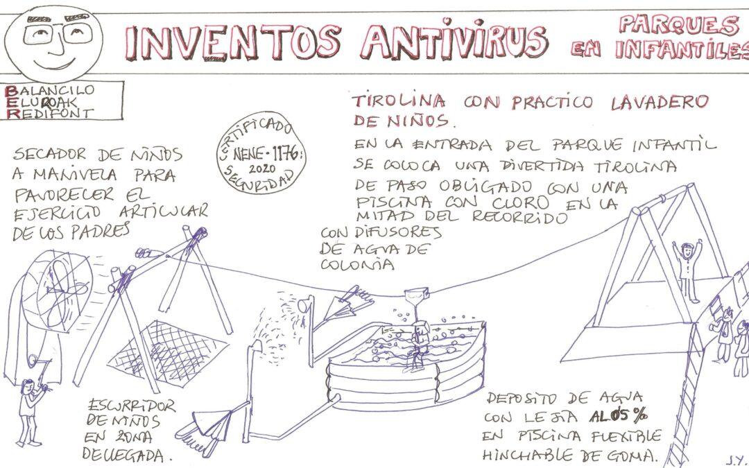 CREATIVIDAD SIN LÍMITES: Inventos antivirus en parques infantiles